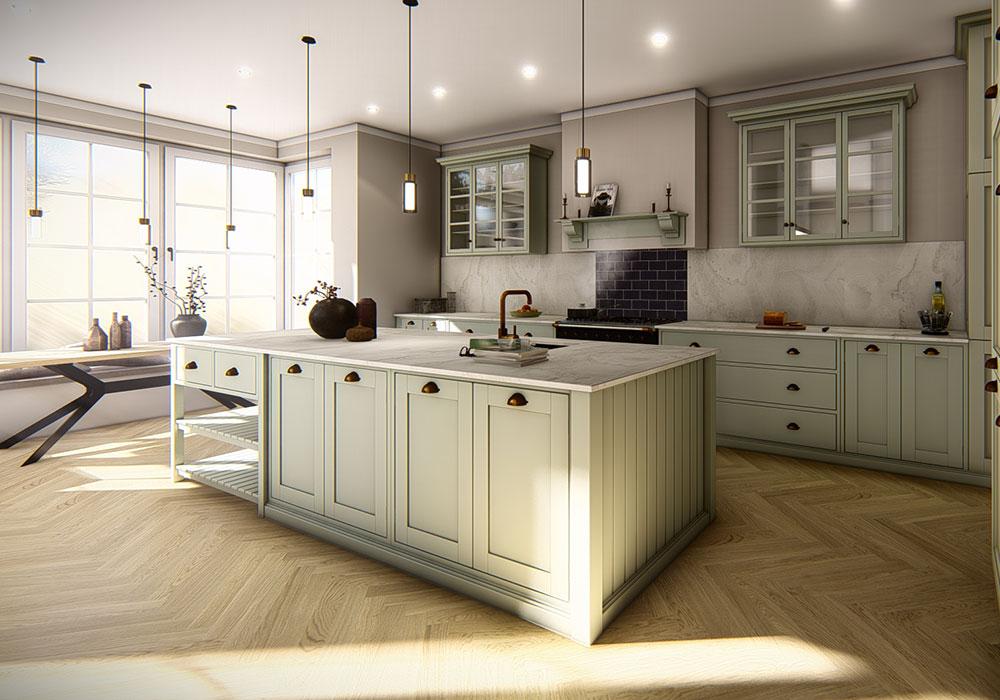 Visualisierung der Küche. Küchendesign